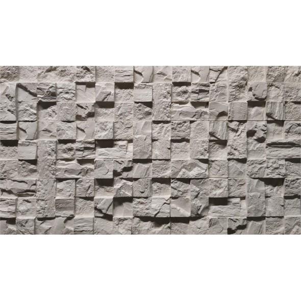Сланец Шахматы (белый), 0.37 м2